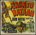 "Movie Posters:War, Back to Bataan (RKO, 1945). Six Sheet (81"" X 81""). War...."