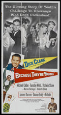 """Movie Posters:Drama, Because They're Young (Columbia, 1960). Three Sheet (41"""" X 81""""). Drama...."""