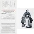 Hockey Collectibles:Others, 1970 Jacques Plante Signed Player Contract....