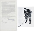 Hockey Collectibles:Others, 1946 Ted Kennedy Signed Player Contract....