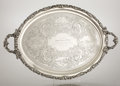 Silver Holloware, American:Trays, AN AMERICAN COIN SILVER PRESENTATION TWO-HANDLED TRAY. Wood &Hughes, New York, New York, circa 1858. Marks: WOOD &HUGHES...