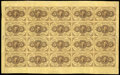 Fractional Currency:First Issue, Fr. 1230 5c First Issue Uncut Complete Sheet of Twenty Very Fine....