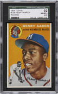 Baseball Cards:Singles (1950-1959), 1954 Topps Hank Aaron Rookie #128 SGC 92 NM/MT+ 8.5....