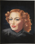 Pin-up and Glamour Art, PAT EGAN (American 20th Century). Portrait of Joan Crawford.Pastel on paper. 15.5 x 19 in.. Signed lower left. ...