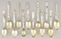 Silver Flatware, American:Tiffany, A SET OF TWELVE AMERICAN SILVER AND SILVER GILT AFTER DINNER COFFEESPOONS. Tiffany & Co., New York, New York, circa 1878. M...(Total: 12 Items)