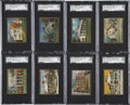 "Non-Sport Cards:General, 1911 T69 Helmar Cigarettes ""Historic Homes"" Complete Set (50). ..."