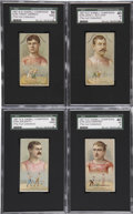 Boxing Cards:General, 1887 N184 W.S. Kimball Boxers SGC-Graded Near Set (4/5)....