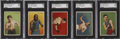 "Boxing Cards:General, 1912 T227 ""Series of Champions"" Boxers SGC-Graded Complete Set(5)...."