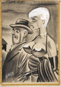 Pin-up and Glamour Art, BILL WARD (American 1919 - 1998). Men's magazine cartoonillustration, 1965. Mixed-media on paper. 20.5 x 14 in..Signed...