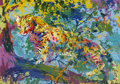 Mainstream Illustration, LEROY NEIMAN (American b.1927). Ocelot, 1973. Serigraph. 24x 34 in.. Signed lower right in pencil. ...