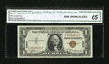 Small Size:World War II Emergency Notes, Fr. 2300 $1 1935A Hawaii Silver Certificate. CGA Gem Uncirculated 65.. ...