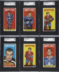 Hockey Cards:Lots, 1964/65 Topps Hockey SGC-Graded Collection (12)....