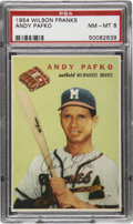 Baseball Cards:Singles (1950-1959), 1954 Wilson Franks Andy Pafko PSA NM-MT 8....