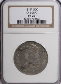 Bust Half Dollars: , 1817 50C VF20 NGC. O-105 A. NGC Census: (2/321). PCGS Population(5/314). Mintage: 1,215,567. Numismedia Wsl. Price for NG...