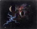 Mainstream Illustration, HERSHEY (American 20th Century). Space Journey, 1987.Acrylic on board. 24 x 30 in.. Signed lower left. ...