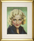 Pin-up and Glamour Art, ROLF ARMSTRONG (American 1889 - 1960). Blonde, circa 1925.Pastel on board. 15.75 x 11.75 in.. Not signed. ...