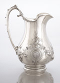 Silver Holloware, American:Ewers and Basins, AN AMERICAN COIN SILVER PRESENTATION EWER. Gorham ManufacturingCo., Providence, Rhode Island, circa 1860. Marks: (lion-anc...