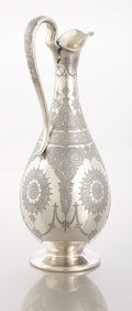 Silver Holloware, British:Holloware, A VICTORIAN SILVER EWER. J, E & W Barnard, London, England,circa 1874-1875. Marks: (lion passant), (leopard's head), (duty ...