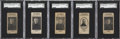 Hockey Cards:Lots, 1924-25 Holland Creameries SGC-Graded Collection (5)....