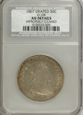 Early Half Dollars, 1807 50C Draped Bust--Improperly Cleaned--AU50 NCS. AU Details.O-108. NGC Census: (33/224). PCGS Population (60/205)....
