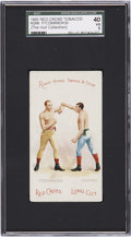 "Boxing Cards:General, 1893 N266 Red Cross ""Fitzsimmons/Dempsey"" SGC 40 VG 3...."