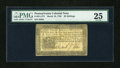 Colonial Notes:Pennsylvania, Pennsylvania March 16, 1785 20s PMG Very Fine 25....