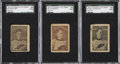 "Hockey Cards:Lots, 1924 Crescent Ice Cream ""Selkirks"" SGC-Graded Trio (3) - A TypeFrom All Three Known Printings...."