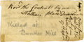 "Autographs:Military Figures, Sergeant Nathan Blood Signed Orders, Issued Days After Lexington-Concord. One page, 4"" x 2"", n.p., April 27, 1775. ..."