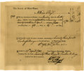 "Autographs:Statesmen, William Floyd Partly Printed Document Signed ""Wm Floyd"" as aMember of the State Senate. One page, 7.75""x 6"". Inlaid to ..."