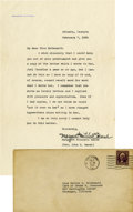 """Autographs:Authors, Margaret Mitchell Typed Letter Signed on her personal imprintedstationery, one page, 7"""" x 11"""", Atlanta, Georgia, Feb. 7, 19..."""