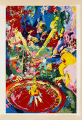 Mainstream Illustration, LEROY NEIMAN (American b.1927). The Green Table, 1974.Serigraph. 29.75 x 26.25 in.. Signed lower right in pencil. ...