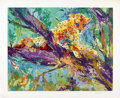Mainstream Illustration, LEROY NEIMAN (American b.1927). Serengeti Leopard, 1979.Serigraph. 33 x 42 in.. Signed lower right in pencil. ...