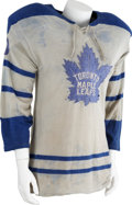 Hockey Collectibles:Equipment, 1962-63 Bronco Horvath Game Worn Jersey....