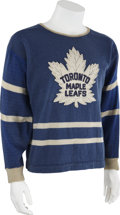 Hockey Collectibles:Equipment, Mid-1940s Harry Watson/Bob Davidson Game Worn Jersey....