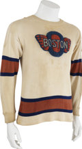 Hockey Collectibles:Uniforms, 1940s Boston Olympics Game Worn Jersey....