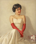 Pin-up and Glamour Art, WALT OTTO (American 1895 - 1963). The Lady is Waiting, calendarillustration. Oil on canvas. 24 x 20 in.. Signed lower r...(Total: 2 Items)