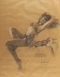 Pin-up and Glamour Art, ROLF ARMSTRONG (American 1889 - 1960). Bikini Bound study,1949. Pastel on craft paper. 34 x 27.5 in.. Signed lower righ...