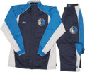 Basketball Collectibles:Uniforms, 2006 Dallas Mavericks NBA Finals Game Worn Warm-Up Suits Lot of5....