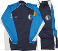 Basketball Collectibles:Uniforms, 2006 Dallas Mavericks NBA Finals Game Worn Warm-Up Suits Lot of6....