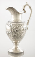 Silver Holloware, American:Ewers and Basins, AN AMERICAN COIN SILVER EWER. James Bogert, Newburgh, New York,circa 1850. Marks: JB, BALL, THOMPKINS & BLACK,SUCCESSORS...