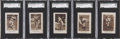 Baseball Cards:Lots, 1928 Star Player Candy SGC-Graded Lot of 5....