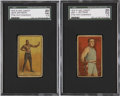 Boxing Cards:General, 1910 E-Unc Candy Jack Johnson and James Jeffries SGC-Graded Pair (2).... (Total: 2 item)