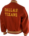 Football Collectibles:Uniforms, Early 1960's Hank Stram Game Worn Sideline Jacket....