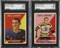 Hockey Cards:Lots, 1958-59 Topps Hockey SGC 92 NM/MT 8.5 Collection (2).... (Total: 2cards)