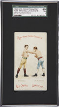 "Boxing Cards:General, 1893 N266 Red Cross ""Boxing Positions and Boxers"" Mitchell/La Blanche SGC 40 VG 3...."