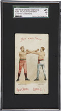 """Boxing Cards:General, 1893 N266 Red Cross """"Boxing Positions and Boxers"""" McAuliffe/MyersSGC 40 VG 3. ..."""
