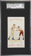"""Boxing Cards:General, 1893 N266 Red Cross """"Boxing Positions And Boxers"""" Edwards/ Collyer SGC 30 Good 2...."""