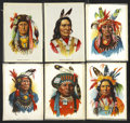 Non-Sport Cards:General, Circa 1910 S67 Indian Chiefs Silks Premiums Complete Set (6). ...