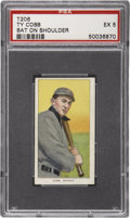 Baseball Cards:Singles (Pre-1930), 1909-11 T206 Ty Cobb Bat On Shoulder PSA EX 5....