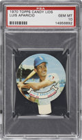 Baseball Cards:Singles (1970-Now), 1970 Topps Candy Lids Luis Aparicio PSA Gem Mint 10....